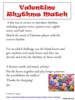 Valentine Rhythms Match!