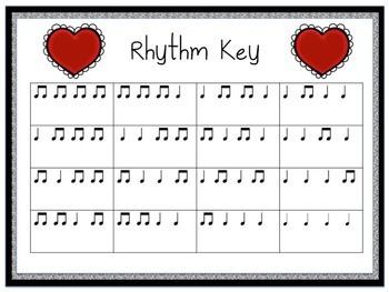 Valentine Rhythms: Rhythm Patterns Using Quarter Notes & Paired Eighth Notes