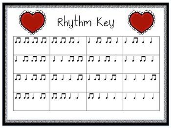 Valentine Rhythms: Rhythm Patterns Using Quarter Notes & Paired Eighth Notes