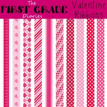 Valentine Ribbons {Digital Clip Art}