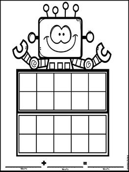 Valentine Robot Math Project  Free