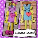 Valentine Robots, Boy and Girl Craft! Valentine Craft, February Craft