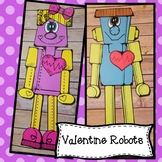 Valentine Robots, Boy and Girl Craft! Valentine Craft, Feb