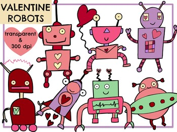 Love Robots (Digital Clip Art)