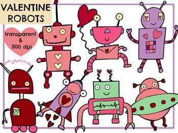 Love Robots (Digital Clip Art)
