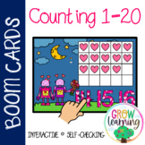 Valentine's Day Robots Ten Frames Counting Numbers 1-20 BOOM Cards™️ Digital
