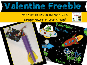 Valentine Rocket Freebie Tags