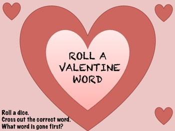 Valentine Roll A Word