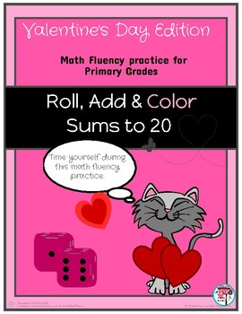 Valentine Roll Add and Color Sums to 20