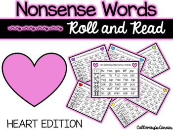 Valentine Roll and Read Nonsense Words