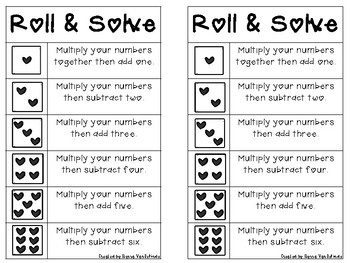 Valentine Roll and Solve