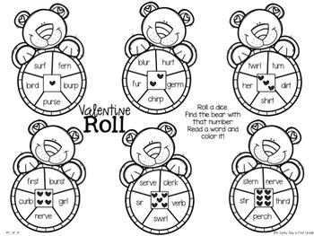Valentine Roll {bossy r practice!}