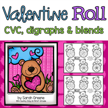Valentine Roll {CVC, digraphs & blends!}