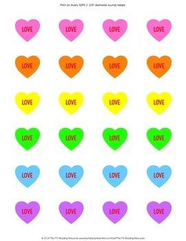 Valentine Round Labels {EDITABLE}