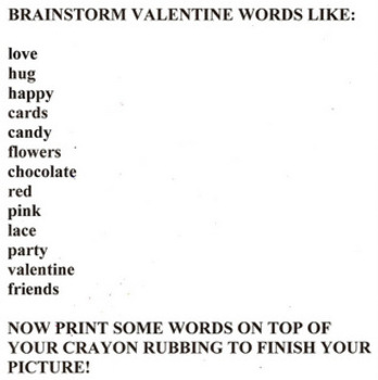 Valentine Rubbings and Words