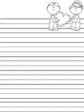 Valentine Ruled Lines Handwriting Paper