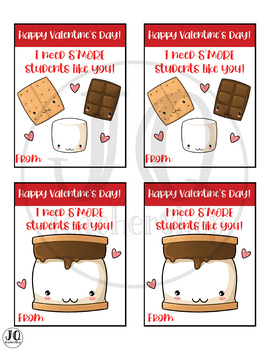 Valentine S'mores Gift Tags, I need S'MORE students like you