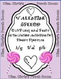 Valentine SPEECH Cut-n-Paste Plosive Circles & Templates