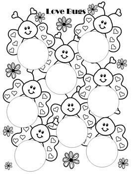 Valentine SPEECH Cut-n-Paste Plosive Circles & Templates