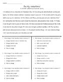 Valentine STAAR Grammar Story