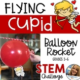 Valentine STEM Challenge - Flying Cupid Balloon Rocket - F