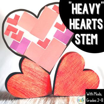 """Valentine's Day STEM Challenge: """"Heavy"""" Hearts"""