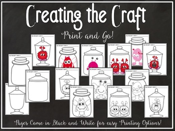 Valentine STEM and Writing BUNDLE:  Catch a Critter and Valentines in a Jar