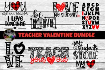 Valentine Svg Teacher Valentine Cut File Bundle Teacher Shirt Designs