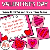 Valentine Same & Different Circle Time Game