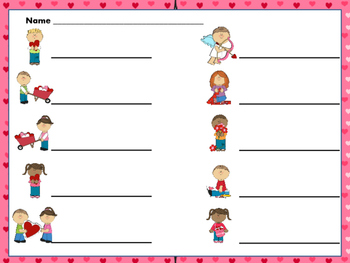 "Valentine Scavenger Hunt--""Write the Room"" activity for ta titi and rest"