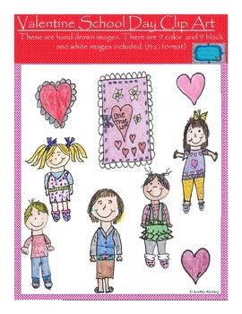 Valentine School Day Clip Art