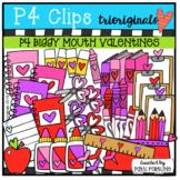 Valentine School Supplies (Valentine's Day Clip Art) P4 Cl