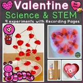 Valentine Science Experiments, STEM Activities & Pages (Pr
