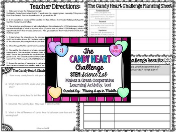 STEM Lab:  Valentine's Themed-The Candy Heart Challenge