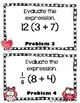 Valentine Scoot Expressions and Equations- 6th Grade