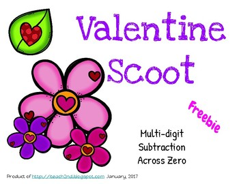 Valentine Scoot - Multi-digit Subtraction