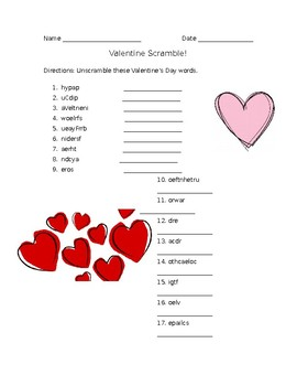 Valentine Scramble