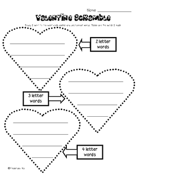 Valentine Scramble {Mixed Up Words Literacy Center}