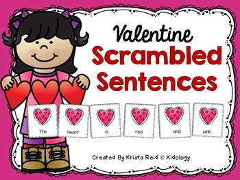 February Writing / Valentine Activities / Scrambled Sentences