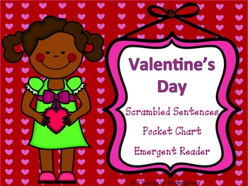 Valentine Scrambled Sentences, Sight Word Book and Pocket Chart Sentences