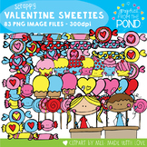 Valentine Scrappy Sweeties - Clipart for Teachers