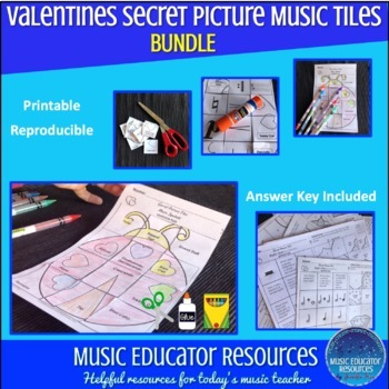 Valentine Secret Picture Music Tiles (Reproducible)