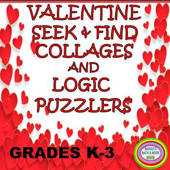 Valentine Seek & Find Collages and Logic Puzzlers