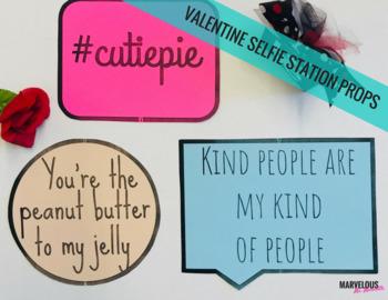 Valentine Selfie Station Props