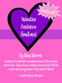 Valentine Sentence Headband Freebie