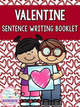 Valentine Sentence Writing Book