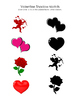Valentine Shadow Match - PreK- Kindergarten