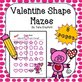 Valentine Shape Mazes