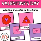 Valentine Shapes Circle Time Game