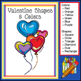 Valentine Shapes and Colors (February Download - Prek to 1st Grade)